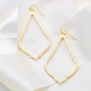 Kendra Scott Gold Sophee Drop Earrings New